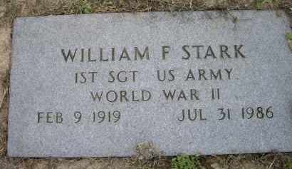STARK (VETERAN WWII), WILLIAM F - Lawrence County, Arkansas   WILLIAM F STARK (VETERAN WWII) - Arkansas Gravestone Photos