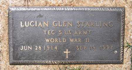 STARLING (VETERAN WWII), LUCIAN GLEN - Lawrence County, Arkansas | LUCIAN GLEN STARLING (VETERAN WWII) - Arkansas Gravestone Photos
