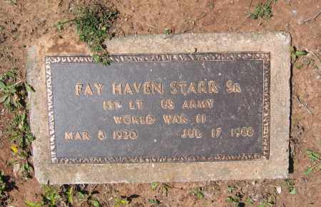 STARR, SR. (VETERAN WWII), FAY HAVEN - Lawrence County, Arkansas | FAY HAVEN STARR, SR. (VETERAN WWII) - Arkansas Gravestone Photos