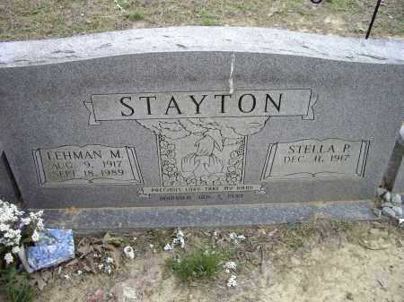 STAYTON, LEHMAN M. - Lawrence County, Arkansas | LEHMAN M. STAYTON - Arkansas Gravestone Photos