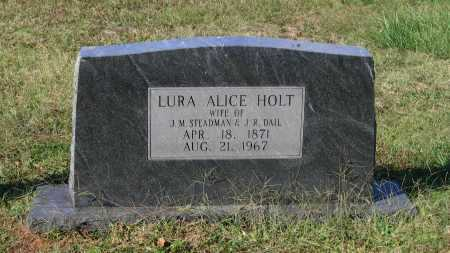 HOLT STEADMAN, LURA ALICE - Lawrence County, Arkansas | LURA ALICE HOLT STEADMAN - Arkansas Gravestone Photos