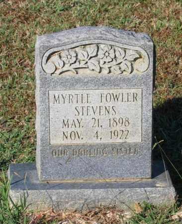 FOWLER STEVENS, MYRTLE - Lawrence County, Arkansas   MYRTLE FOWLER STEVENS - Arkansas Gravestone Photos