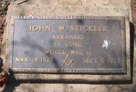 STICKLER (VETERAN WWII), JOHN W - Lawrence County, Arkansas | JOHN W STICKLER (VETERAN WWII) - Arkansas Gravestone Photos