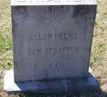 HELMS STRATTON, SENIA ELLEN - Lawrence County, Arkansas | SENIA ELLEN HELMS STRATTON - Arkansas Gravestone Photos