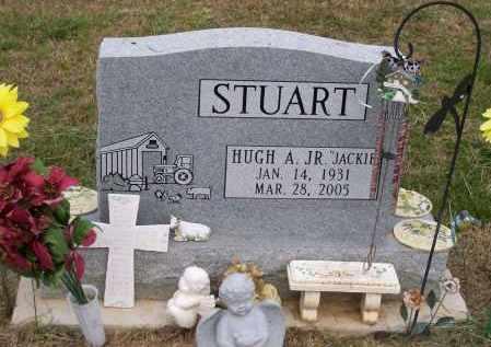 "STUART, JR, HUGH ARLINGTON ""JACKIE"" - Lawrence County, Arkansas | HUGH ARLINGTON ""JACKIE"" STUART, JR - Arkansas Gravestone Photos"