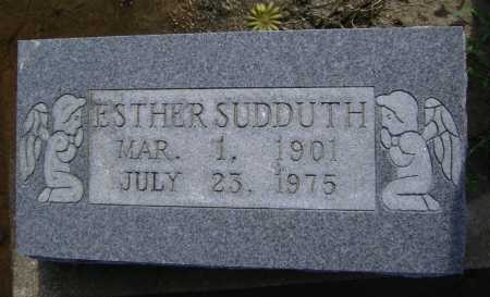 DAVIS SUDDUTH, ESTHER - Lawrence County, Arkansas | ESTHER DAVIS SUDDUTH - Arkansas Gravestone Photos