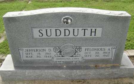 "WHITLOW SUDDUTH, FELONIOUS ALLISON  ""LONE"" - Lawrence County, Arkansas 