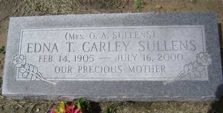 CARLEY SULLENS, EDNA T. - Lawrence County, Arkansas | EDNA T. CARLEY SULLENS - Arkansas Gravestone Photos