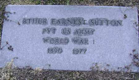 SUTTON  (VETERAN WWI), ARTHUR EARNEST - Lawrence County, Arkansas | ARTHUR EARNEST SUTTON  (VETERAN WWI) - Arkansas Gravestone Photos