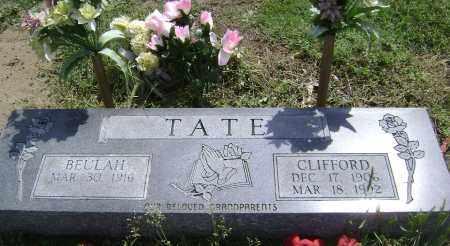TATE, CLIFFORD - Lawrence County, Arkansas | CLIFFORD TATE - Arkansas Gravestone Photos
