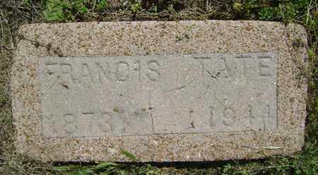 TATE, FRANCIS - Lawrence County, Arkansas | FRANCIS TATE - Arkansas Gravestone Photos