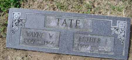 TATE, WAYNE W. - Lawrence County, Arkansas   WAYNE W. TATE - Arkansas Gravestone Photos