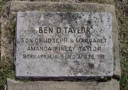 "TAYLOR, BENJAMIN D. ""BEN"" - Lawrence County, Arkansas   BENJAMIN D. ""BEN"" TAYLOR - Arkansas Gravestone Photos"