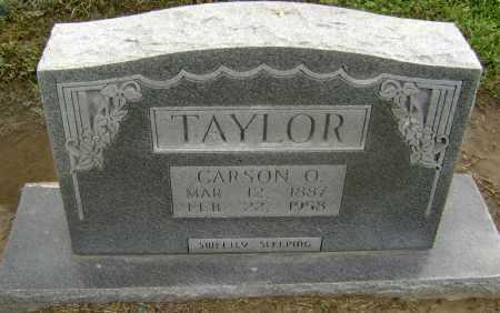 TAYLOR, CARSON O. - Lawrence County, Arkansas   CARSON O. TAYLOR - Arkansas Gravestone Photos