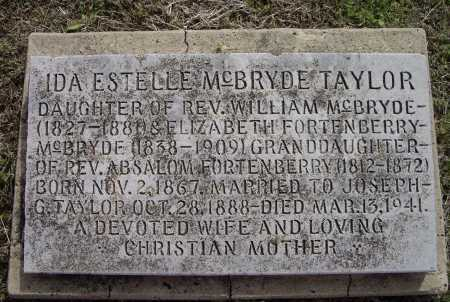 MCBRYDE TAYLOR, IDA ESTELLE - Lawrence County, Arkansas | IDA ESTELLE MCBRYDE TAYLOR - Arkansas Gravestone Photos