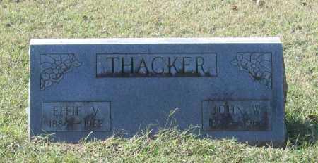 THACKER, EFFIE V. - Lawrence County, Arkansas | EFFIE V. THACKER - Arkansas Gravestone Photos