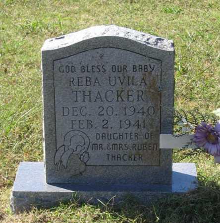 THACKER, REBA UVILA - Lawrence County, Arkansas | REBA UVILA THACKER - Arkansas Gravestone Photos
