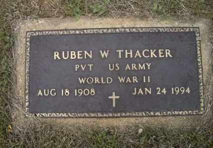 THACKER (VETERAN WWII), RUBEN W. - Lawrence County, Arkansas | RUBEN W. THACKER (VETERAN WWII) - Arkansas Gravestone Photos