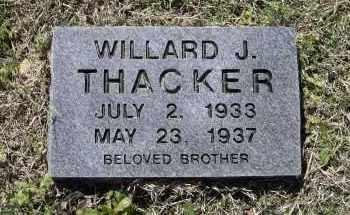 THACKER, WILLARD J. - Lawrence County, Arkansas | WILLARD J. THACKER - Arkansas Gravestone Photos