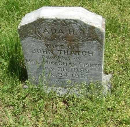 FISHER THATCH, ADA H. - Lawrence County, Arkansas | ADA H. FISHER THATCH - Arkansas Gravestone Photos