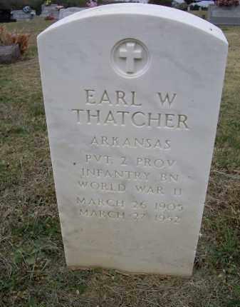 THATCHER (VETERAN WWII), EARL W. - Lawrence County, Arkansas | EARL W. THATCHER (VETERAN WWII) - Arkansas Gravestone Photos