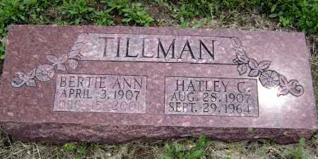 TILLMAN, BERTIE ANN - Lawrence County, Arkansas | BERTIE ANN TILLMAN - Arkansas Gravestone Photos
