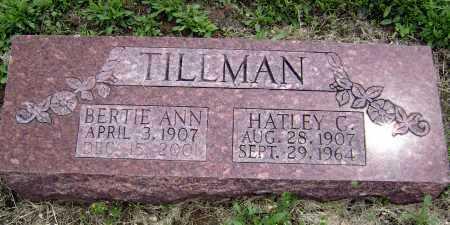 BALLARD TILLMAN, BERTIE ANN - Lawrence County, Arkansas | BERTIE ANN BALLARD TILLMAN - Arkansas Gravestone Photos