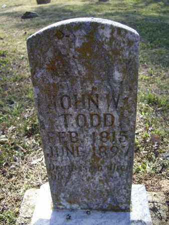 TODD, JR., JOHN W. - Lawrence County, Arkansas   JOHN W. TODD, JR. - Arkansas Gravestone Photos