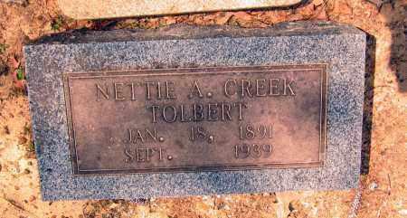 CREEK TOLBERT, NETTIE A. - Lawrence County, Arkansas | NETTIE A. CREEK TOLBERT - Arkansas Gravestone Photos