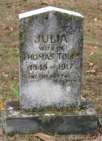 TOLES, JULIA - Lawrence County, Arkansas | JULIA TOLES - Arkansas Gravestone Photos
