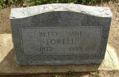 TOWELL, BETTY JANE - Lawrence County, Arkansas   BETTY JANE TOWELL - Arkansas Gravestone Photos