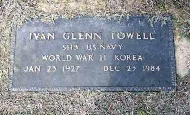 TOWELL (VETERAN 2 WARS), IVAN GLENN - Lawrence County, Arkansas | IVAN GLENN TOWELL (VETERAN 2 WARS) - Arkansas Gravestone Photos