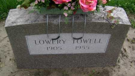 TOWELL, LOWERY - Lawrence County, Arkansas   LOWERY TOWELL - Arkansas Gravestone Photos