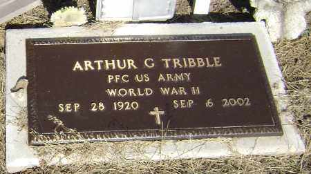 TRIBBLE  (VETERAN WWII), ARTHUR GERALD - Lawrence County, Arkansas | ARTHUR GERALD TRIBBLE  (VETERAN WWII) - Arkansas Gravestone Photos