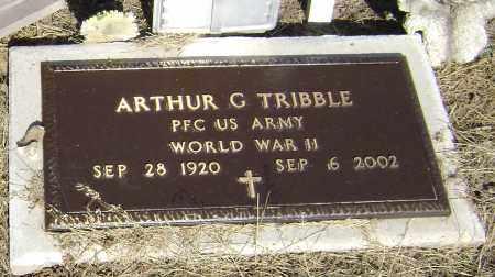 TRIBBLE  (VETERAN WWII), ARTHUR GERALD - Lawrence County, Arkansas | ARTHUR GERALD TRIBBLE  (VETERAN WWII) - Arkansas Gravestone Photos