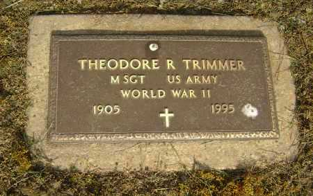 TRIMMER (VETERAN WWII), THEODORE R. - Lawrence County, Arkansas | THEODORE R. TRIMMER (VETERAN WWII) - Arkansas Gravestone Photos