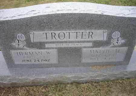 TROTTER, HERMAN W. - Lawrence County, Arkansas   HERMAN W. TROTTER - Arkansas Gravestone Photos