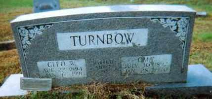 TURNBOW, CLEO W. - Lawrence County, Arkansas | CLEO W. TURNBOW - Arkansas Gravestone Photos