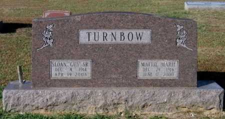 BRANNON TURNBOW, MATTIE MARIE - Lawrence County, Arkansas | MATTIE MARIE BRANNON TURNBOW - Arkansas Gravestone Photos