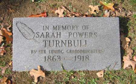 POWERS TURNBULL, SARAH - Lawrence County, Arkansas   SARAH POWERS TURNBULL - Arkansas Gravestone Photos