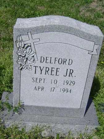 TYREE, JR., DELFORD F. - Lawrence County, Arkansas   DELFORD F. TYREE, JR. - Arkansas Gravestone Photos