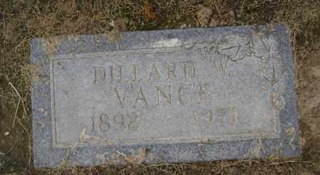 VANCE, DILLARD WILLIAM - Lawrence County, Arkansas | DILLARD WILLIAM VANCE - Arkansas Gravestone Photos
