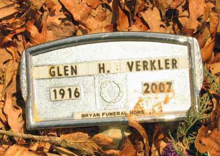 VERKLER, GLEN HOLLACE - Lawrence County, Arkansas | GLEN HOLLACE VERKLER - Arkansas Gravestone Photos