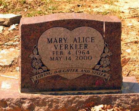 VERKLER, MARY ALICE - Lawrence County, Arkansas   MARY ALICE VERKLER - Arkansas Gravestone Photos