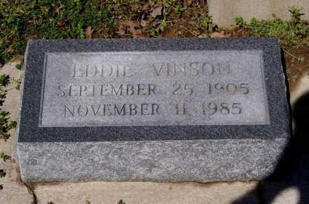 VINSON, EDDIE - Lawrence County, Arkansas | EDDIE VINSON - Arkansas Gravestone Photos