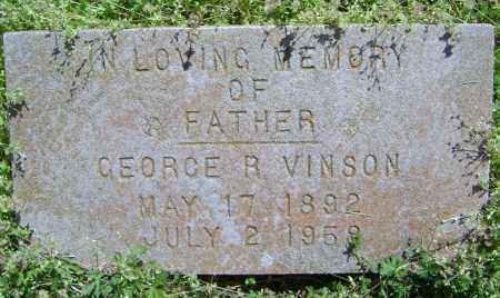 VINSON, GEORGE R. - Lawrence County, Arkansas | GEORGE R. VINSON - Arkansas Gravestone Photos