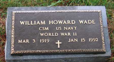 WADE (VETERAN WWII), WILLIAM HOWARD - Lawrence County, Arkansas   WILLIAM HOWARD WADE (VETERAN WWII) - Arkansas Gravestone Photos