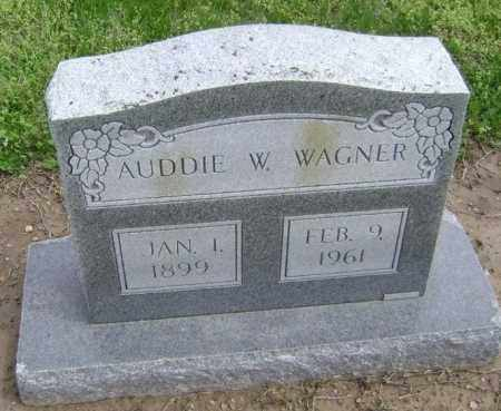 WAGNER, AUDDIE W. - Lawrence County, Arkansas | AUDDIE W. WAGNER - Arkansas Gravestone Photos