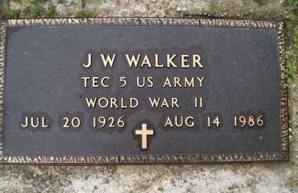 WALKER (VETERAN WWII), J W - Lawrence County, Arkansas | J W WALKER (VETERAN WWII) - Arkansas Gravestone Photos