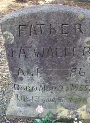 WALLER, JESSE AMOS - Lawrence County, Arkansas   JESSE AMOS WALLER - Arkansas Gravestone Photos